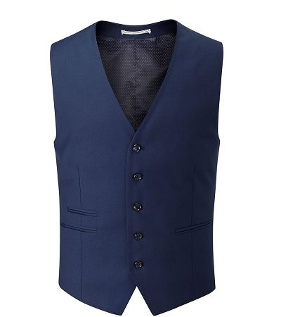 Royal Blue Waistcoat 2